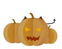 Pumpkin devil  on White Background. Stock Image
