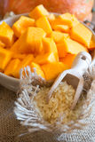 Pumpkin diced Royalty Free Stock Photography