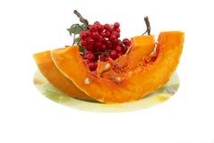 Pumpkin on a dish Royalty Free Stock Photo