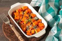 Pumpkin dish Royalty Free Stock Photo