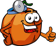 Pumpkin doctor with thumb up Stock Images