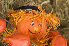 Pumpkin doll close-up Stock Photography