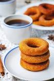 Pumpkin donuts Stock Photography