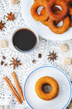 Pumpkin donuts Stock Images