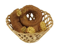 Pumpkin Donuts Whole and Halved Royalty Free Stock Photography