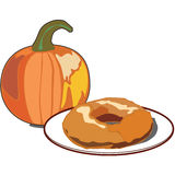 Pumpkin Doughnut Stock Images