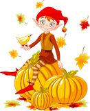 Pumpkin elf vector illustration