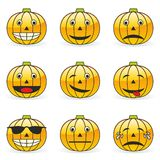 Pumpkin emoticons. Fully editable  illustration of pumpkin emoticons Royalty Free Stock Photo