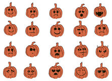 Smiles Pumpkin. Emotional smiles decorate Halloween pumpkins and give your feelings Royalty Free Stock Image
