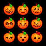 Pumpkin emotions Stock Photo