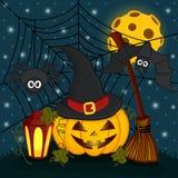 Pumpkin in  eve halloween night Stock Images