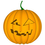 Pumpkin with an evil expression on his face Royalty Free Stock Image