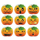 Pumpkin expression. A vector illustration of different pumpkin expression Stock Photo