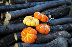 Pumpkin fabric Royalty Free Stock Photography