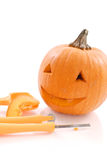 Pumpkin Face Stock Images