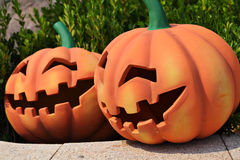 Pumpkin face Stock Photos