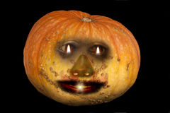 A pumpkin with a face Stock Image