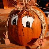 Pumpkin face Stock Photos