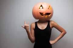 Pumpkin face Stock Photography
