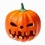 Pumpkin face grinning for Halloween. Halloween pumpkin spooky cut out face, 3D illustration Stock Image