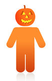 Pumpkin face icon Royalty Free Stock Photo