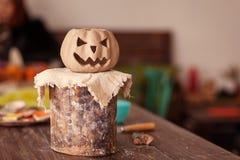 Pumpkin face jack Royalty Free Stock Image