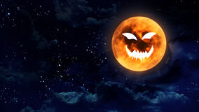 Pumpkin face moon Royalty Free Stock Photos