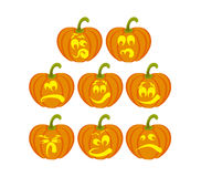 pumpkin faces Royalty Free Stock Photo