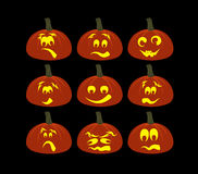Pumpkin faces Royalty Free Stock Images