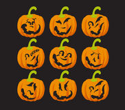 Pumpkin faces Royalty Free Stock Photos