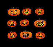 Pumpkin faces Stock Images