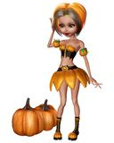 Pumpkin fairy Stock Photography