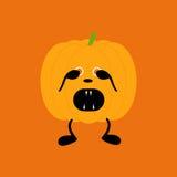 Pumpkin in fear Stock Photo