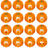 Pumpkin with feature a different expression Royalty Free Stock Photography