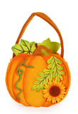 Pumpkin of felt Royalty Free Stock Photos