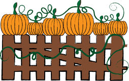 Pumpkin Fence Stock Photos