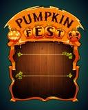 Pumpkin Fest Poster Stock Photo