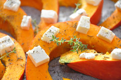 Pumpkin with feta Cheese. And Thyme stock image