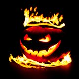 Pumpkin in flames Royalty Free Stock Photo