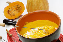 Pumpkin fondue Stock Photography