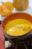 Pumpkin fondue Stock Photography