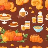 Pumpkin food vector soup, cake, pie meals organic healthy autumn food delicious harvest time seasona pumpkin seamless Stock Photo