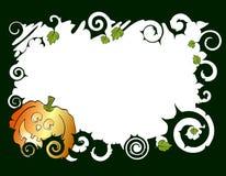 Pumpkin frame Stock Image