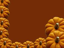 Pumpkin Frame. Background for Halloween or Thanksgiving Royalty Free Stock Photos