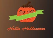 Pumpkin frame Stock Images