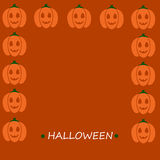 Pumpkin frame and text Royalty Free Stock Images