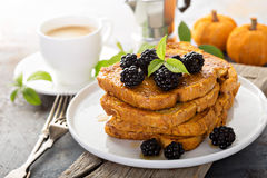 Pumpkin french toast Stock Image
