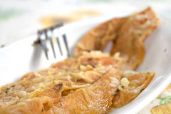 Pumpkin fried and  floured Stock Images