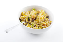 Pumpkin fried rice Stock Photo