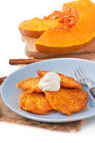 Pumpkin Fritters Royalty Free Stock Images